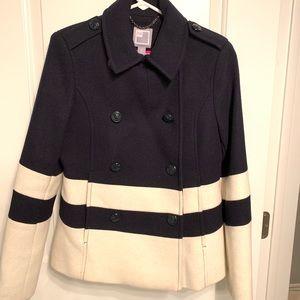 Navy and Cream Pea Coat